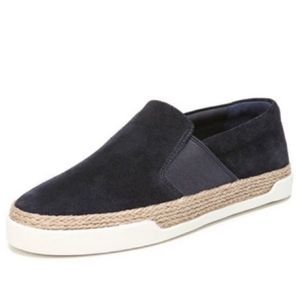 Vince johan suede jute wrapped loafer sneakers